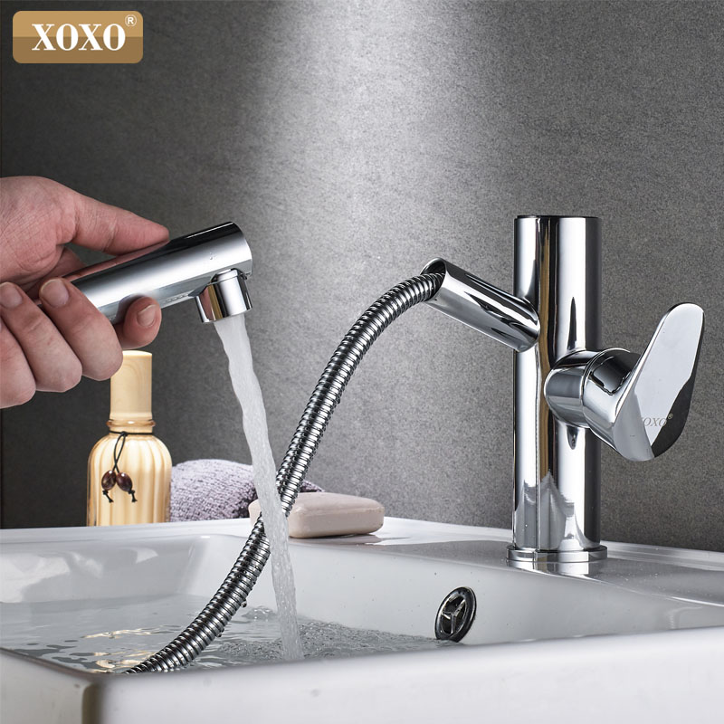 XOXO Basin faucet copper chromium kitchen faucet, sink faucets mixer tap modern intelligent Exit from the bathroom faucet80045-1