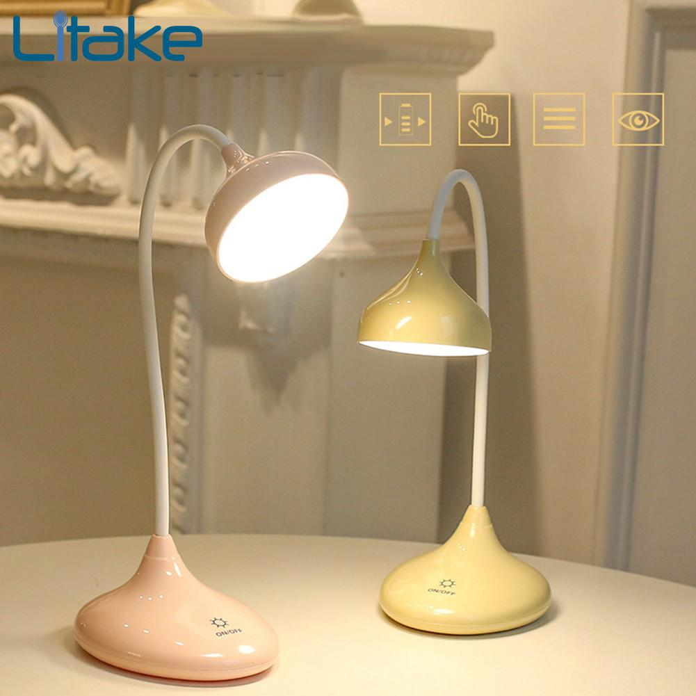 LumiParty LED Touch Three Dimming Lamp Eye Protection Desk Lights Night Light Reading Lamp Home Office Desk Decoration