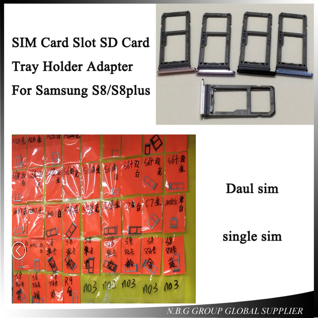 10pcs/lot New Replacement Spare Parts for Samsung Galaxy S8/ S8 Plus Single  Dual SIM Card Tray Slot Holder Adapter-in Phone Screen Protectors from