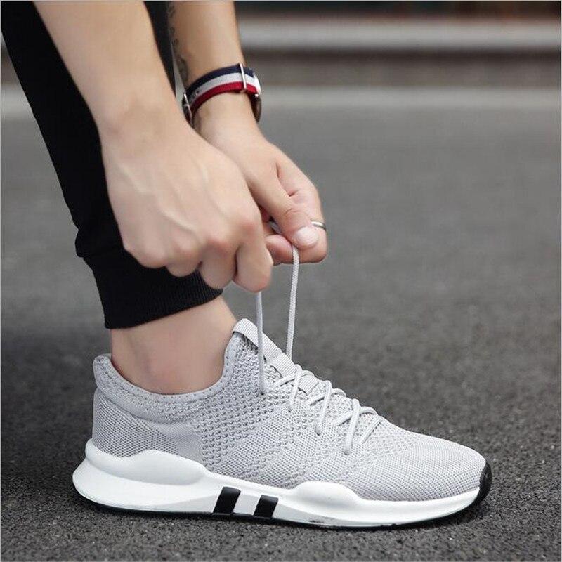 Hot on Pour Slip Adultes Respirant Chaussures Hommes Noir gray Zapatillas Mode Légères Hombre Black Casual white Marque De Sport 8nwqrx8fv