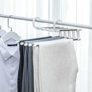 New 5-in-1 Adjustable Trouser Pants Tie Shawl Rack Belt Scarf Neckties Hanger Holder Multifunctional Closet Organizer