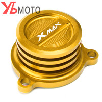 For Yamaha XMAX 250 ABS 300 400 2017 2018 CNC Aluminum Alloy Motorcycle Reservoir Cup Engine Oil Filter Cover Cap