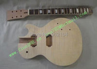 new semi finished electric guitar with tiger stripes and chrome hardware no paint F 1810