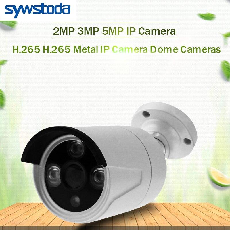 2.8mm Metal  H265/H264 48 V POE Della Macchina Fotografica 1080 P  3mp 5mp Onvif P2P Di Movimento Rilevare RTSP Email