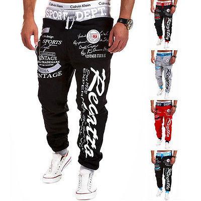 Men Clothing Hiphop Sweatpants Pants Jogger Fashion Casual Loose Baggy Harem Slacks Trousers Pants