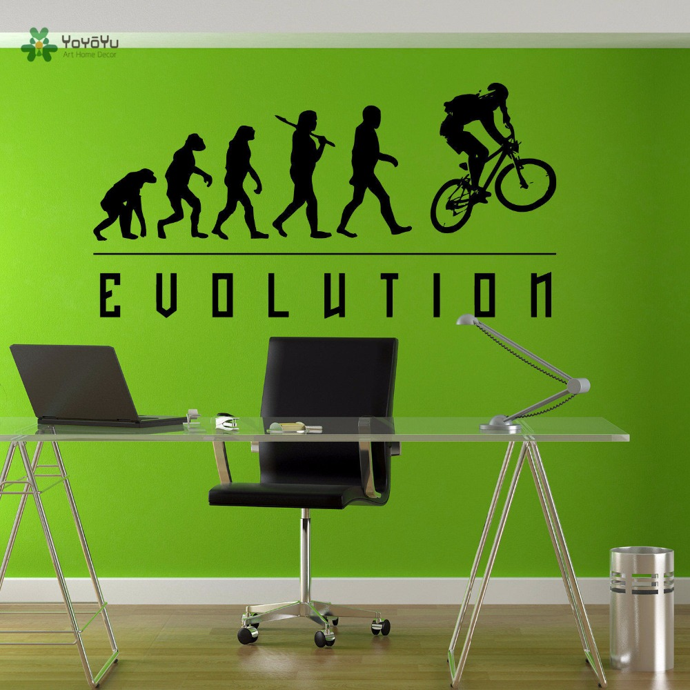 Yoyoyu Wall Decal Vinyl Art Home Decor Wall Stickers Evolution Bmx