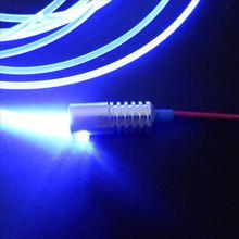 Рекламная сторона свечение твердое ядро Пластик PMMA волокно+ DC12V вход 2 Вт Малый размер волоконно-оптический осветитель с 3 мм диаметр
