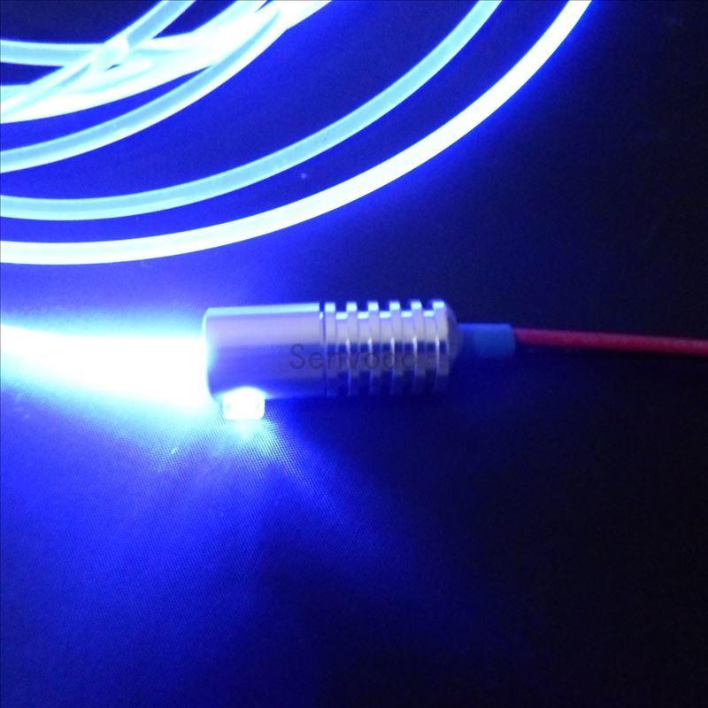 Рекламные сторона свечение твердое ядро Пластик PMMA волокно + DC12V вход 2 Вт маленький размер Оптическое волокно осветитель с 3 мм диаметр ...