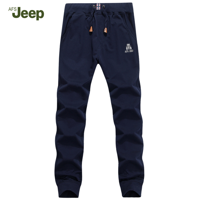 AFS JEEP 2017 Men Pants New Casual Fashion Han Edition Spring Full Length Pants Youth Breathable Straight Elastic Pants 75