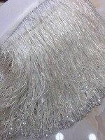 stock tassel 5yards/bag ym122# AB color 15 cm bead necklace pendant top grade stock for sawing dress fringe trim