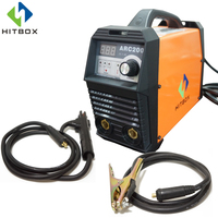 HITBOX ARC200 DIGITAL WELDING MACHINE MMA LIFT TIG FUNCTION SINGLE PHASE 220V WITH VRD PROTECTION FOR SALE WITH ACCESSORIES