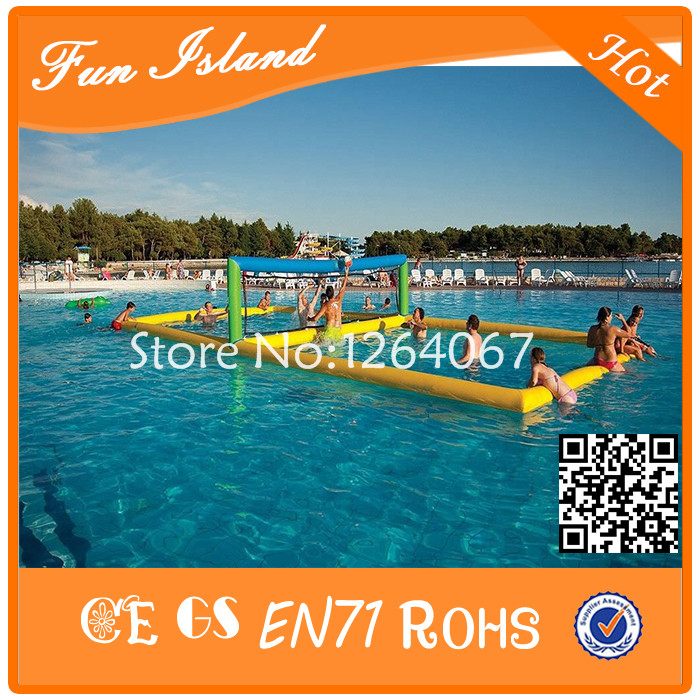 Free Shipping Inflatable Pool Volleyball Filed, Inflatable Water Sport Game Toy,Inflatable Volleyball Court free shipping inflatable water slides with pool for party and events cheap inflatable slide with prices