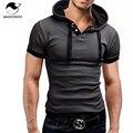 Marca 2017 mens poloshirt hombres polo camisa de polo de manga corta sólido homme para hombre delgado camisas de vestir con capucha camisa polo camisa xxxl