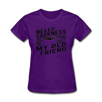 Hello Darkness Coffee My Old Friend Tops 2018 Summer Short Sleeve O Neck T Shirt Cotton