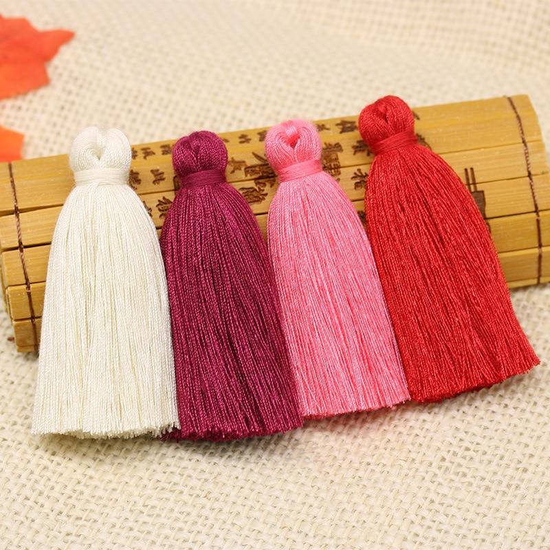 10PC 6CM Mini Cotton Fat Tassel Pendant Home Textile Curtain Clothing Pendant Tassel Diy Key Bag Bracelet Necklace Craft Tassels