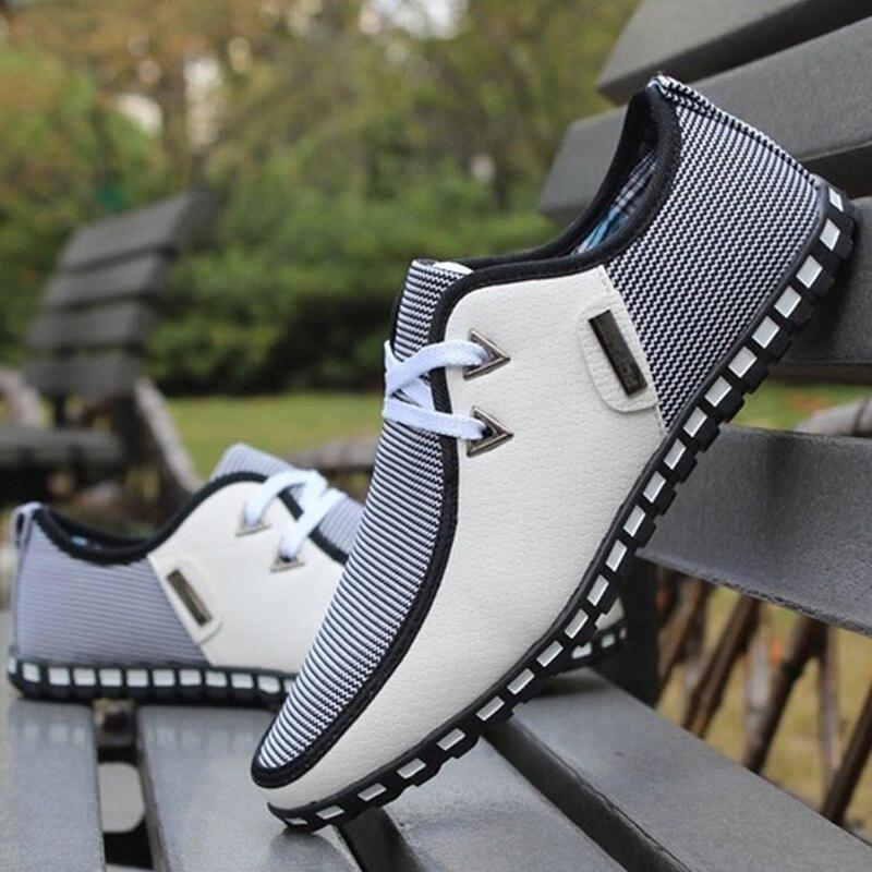 Verano de los hombres de los holgazanes Zapatos casuales Zapatos de moda resbalón en zapatillas de deporte de los hombres Zapatos de conducción Zapatos más tamaño 38-47 38-47 38-47 Zapatillas Zapatos hombre Casual