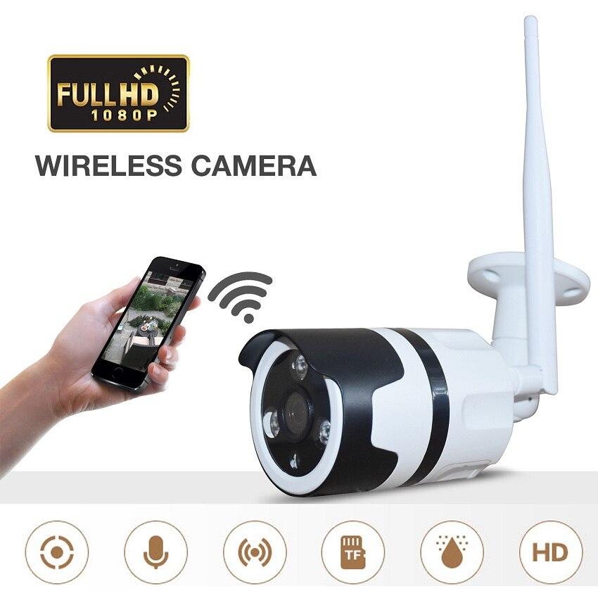 O uso Da Câmera de 1080P WI-FI ao ar livre HD 3MP 2MP da lente 3.6 MILÍMETROS de Metal De 360 graus da câmera à prova d' água suporta No Máximo 128GB cartão TF