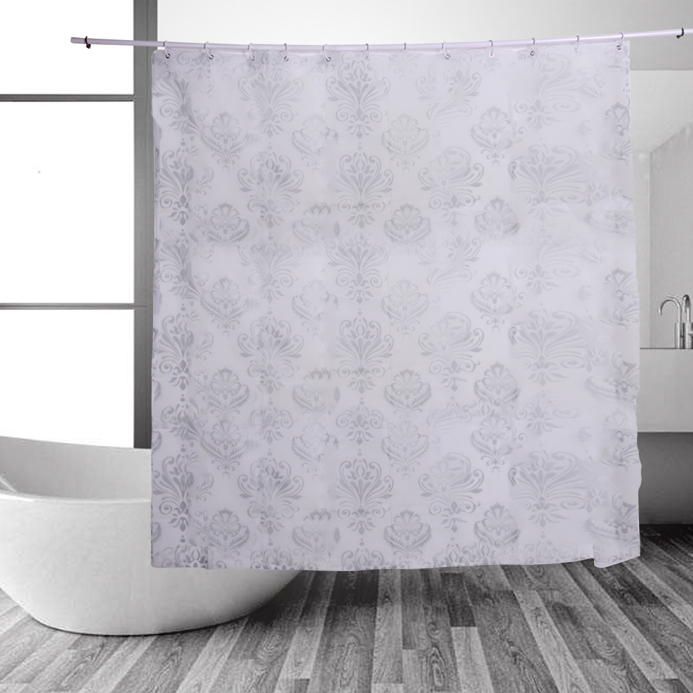 Bathroom plastic curtains - Peva Plastic Bath Curtains Waterproof Shower Curtain Bathroom Product With Hooks Wear Resistant Curtain For
