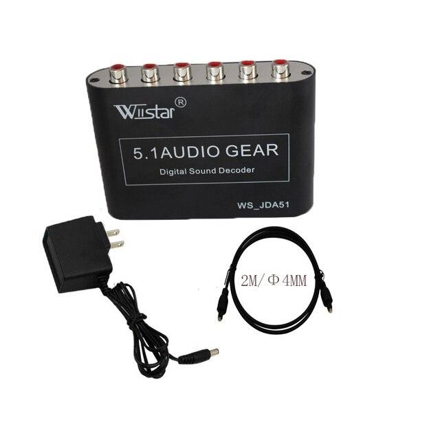 Cable 2 m + 5.1 Audio Decoder spdif SPDIF Coaxial a RCA DTS AC3 dolby Digital a 5.1 Amplificador Analógico Convertidor de envío gratis