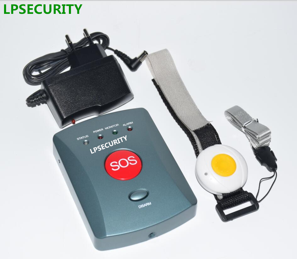 LPSECURITY 1 2 3 4 button transmitters GSM Elderly OAP Panic Alarm system - Auto Dial Home Safety Alert Care Call Fall Alarm