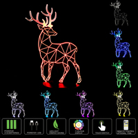 3D Creative Deer Visual 3D Night Light 7 Color Change LED Table Lamp Holiday Toy Gift
