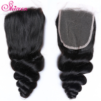 Shireen Hair Lace Closure 4*4 Malaysian Loose Wave Closure 10 20inches Remy Human Hair Closure One Piece