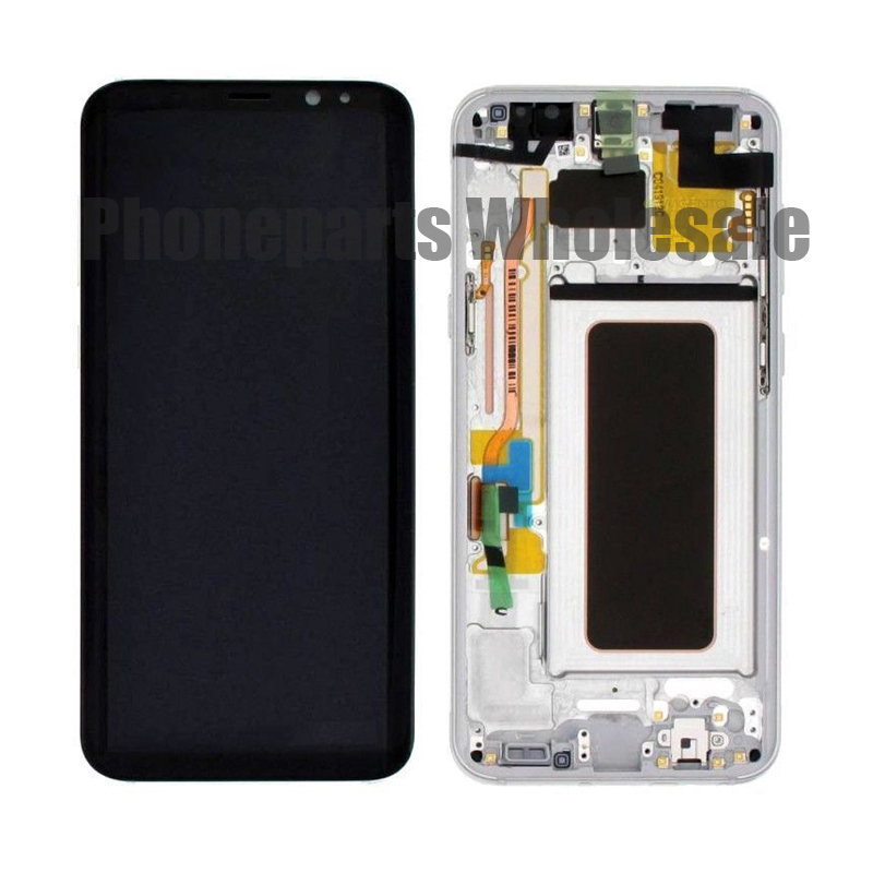 For Samsung Galaxy S8 G9500 S8 Plus G955 LCD Display With Touch Screen Digitizer Assembly With Frame Free ShippingFor Samsung Galaxy S8 G9500 S8 Plus G955 LCD Display With Touch Screen Digitizer Assembly With Frame Free Shipping