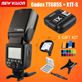 Mais novo Godox GN60 TT685S 2.4G HSS TTL Flash Gatilho Speedlite + X1S transmissor kit para sony a58 a7rii a7ii a99 a7r + 5 presente Kit