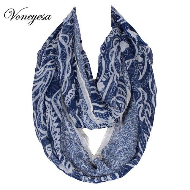 Herbst & Winter Schal Paisley Muster Schals Frauen Mode Blaue Farbe ...