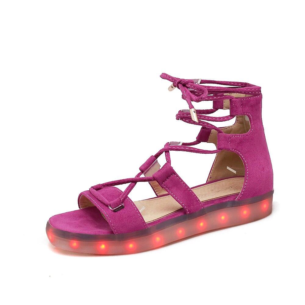 ФОТО Mavirs 2017 Sexy Cross-tied Woman Platform Sandals Flats Led Shoes Lace Up Beach Gladiator Sandals Woman Summer Shoes