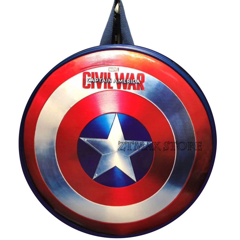 New Arrival The Captain America Shield Backpack Blue Backpacks Special Personality Women Men Bags American Film Character Bag