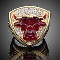 Championship Rings For Michael Jeffrey Jordan Fan Gift 1993 Global Basketball Finals Bull Ring Chicago Sport Replica Ring J02092