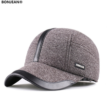 Winter winter outside Korean new males's baseball cap thick heat ear cotton duck tongue hat Adjustable 54-59cm  Z-22
