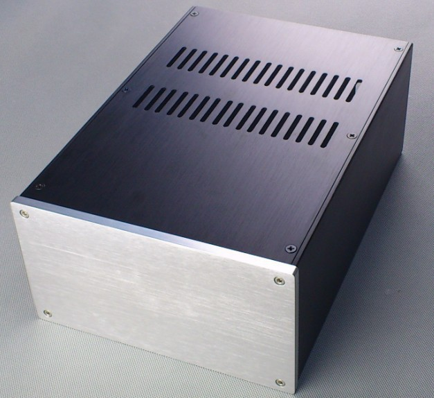 E-037 CNC All Aluminum Chassis Case Box Cabinet for DIY Audio Power Amplifier 220mm*120mm*311mm 220*120*311mm d 073 queenway 2612 blank cnc full aluminum small class a amplifier audio box amp case 260mm 120mm 311mm 260 120 311mm