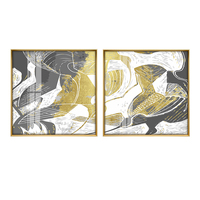 Restaurant Decorative Painting Art Hanging Painting Crystal Painting Living Room Wall Painting Square Abstract Bedroom Bedside