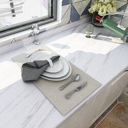 ورق حائط رخامي ذاتي اللصق وقشر ورق اتصال قابل للإزالة لطاولات المطبخ والحمام وغرفة المعيشة ورق حائط