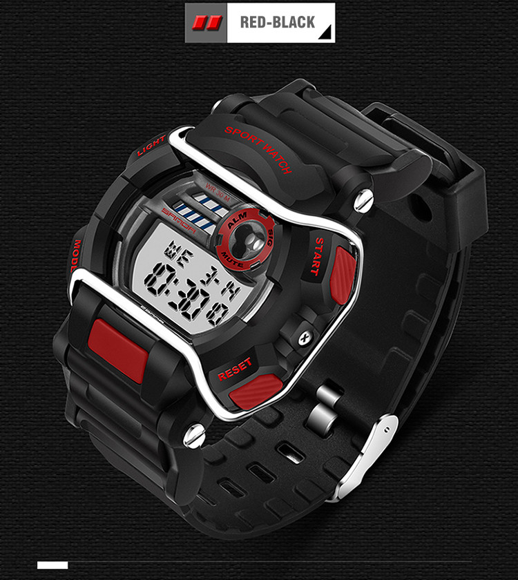 sanda luxury brand led digital watches fashion men\'s sports wristwatches drop shipping (43)