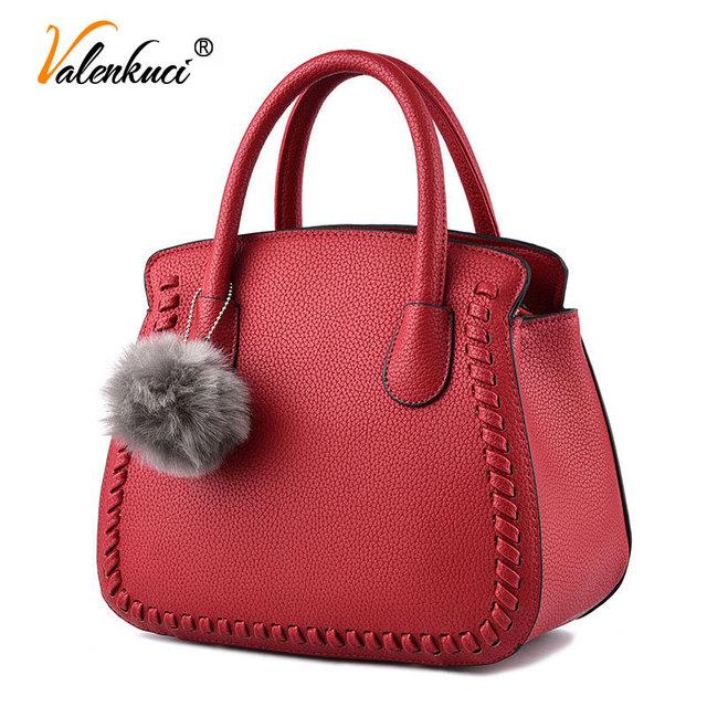 Valenkuci women leather handbags women messenger bags designer handbag crossbody bags for women luxury top-handle bags SD-819