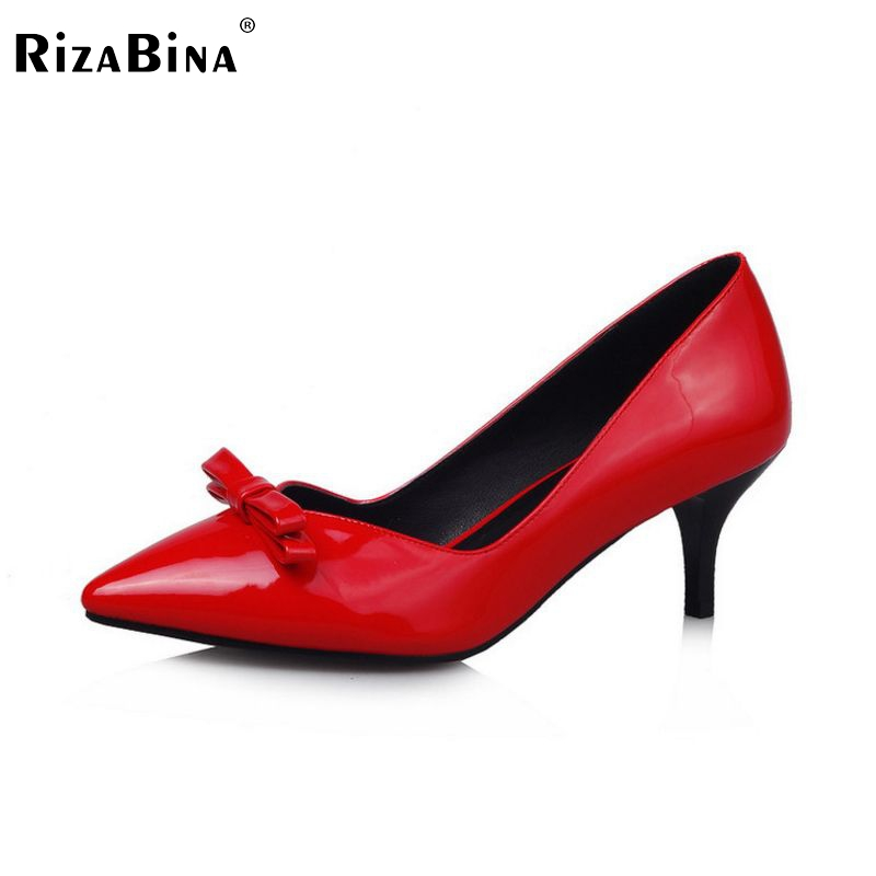 women thin high heel shoes spring pointed toe bowtie spring sexy fashion pumps heeled footwear heels shoes size 33-43 P16174 2017 spring sexy women pumps genuine leather butterfly knot woman shoes pointed toe high heels footwear party pumps size 33 43