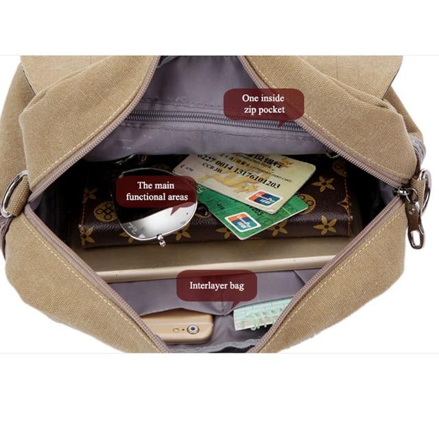 Leather Men Messenger Bags Vintage Shoulder Bag Men Canvas Casual Crossbody Bags For Men Male Handbag 2