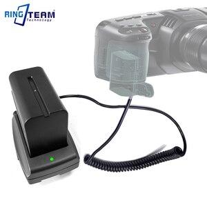 Image 5 - LP E6 Accoppiatore Batteria DR E6 + NP F970 F750 F550 Piastra di Montaggio Adattatore per BMPCC 4 K BMPCC4K Blackmagic Pocket Cinema Camera 4 K