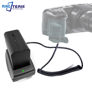 Image 5 - LP E6 Аккумуляторный соединитель DR E6 + NP F970 F750 F550 Монтажная пластина адаптер для BMPCC 4K bmpc4k Blackmagic Pocket Cinema Camera 4K