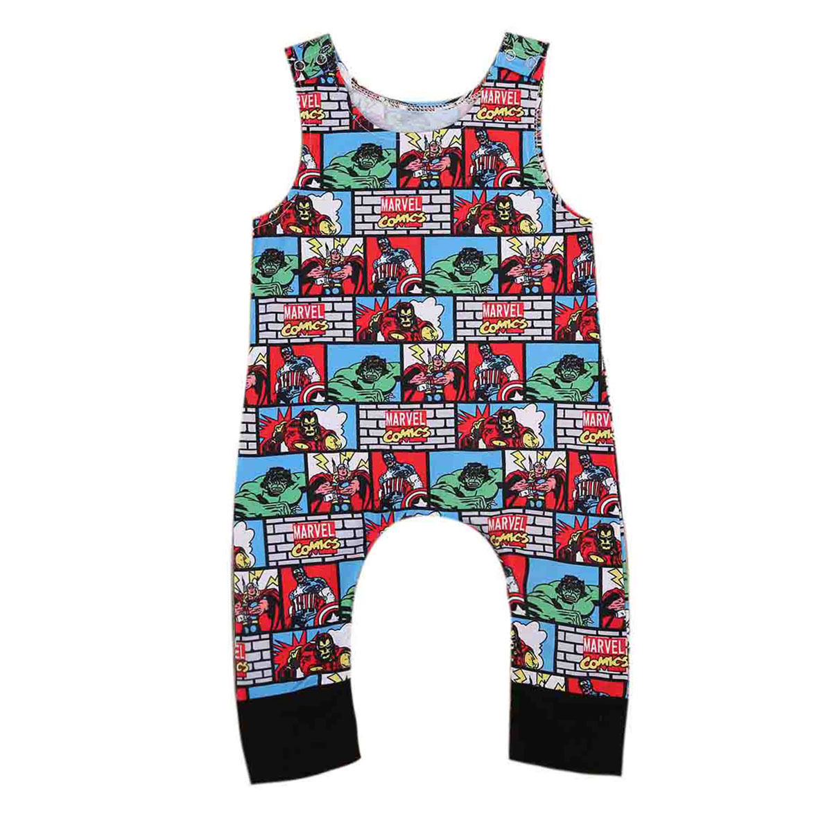 Cute Newborn Baby Rompers Summer Infant Boys Sleeveless Romper Cartoon Printed Jumper Cotton Blend Jumpsuit Kids Baby Outfits cotton i must go print newborn infant baby boys clothes summer short sleeve rompers jumpsuit baby romper clothing outfits set