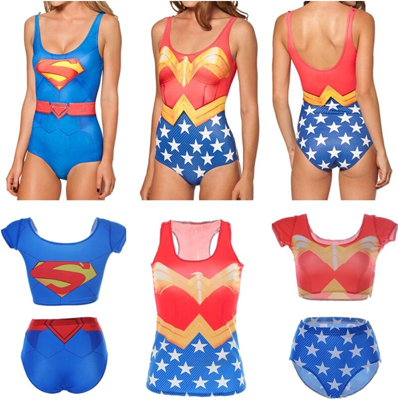 SUPERMAN Strandbikini Dames SUPER MAN Zwempak Super Hero Zwempak - Sportkleding en accessoires