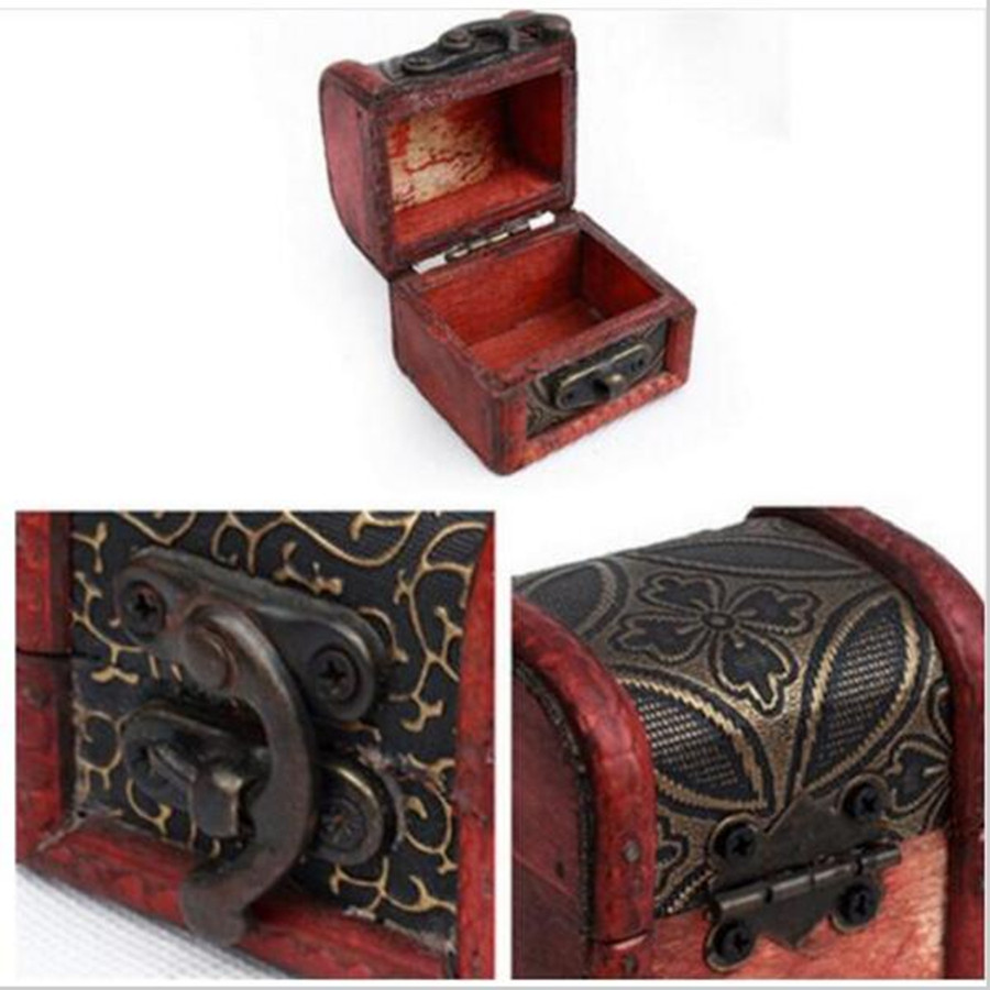 Free Shipping Vintage Jewelry Box Jewellery Organizer Storage Case