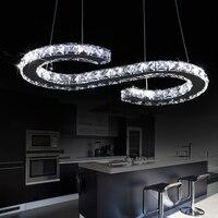 New S Shaped LED Modern Luxury Crystal Lighting Pendant Light Hanging Lamp Fixtures For Home Bar