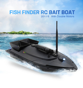 Image 5 - Flytec 2011 5 דיג כלי חכם RC פיתיון סירת צעצוע כפול מנוע דגי Finder שלט רחוק דיג סירת סירת מרוץ 500 מטרים
