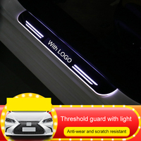 QHCP Acrylic LED Car Light Door Sill Scuff Plate Pathway Dynamic Streamer Welcome Lamp Threshold For Lexus ES200 260 300H 2018