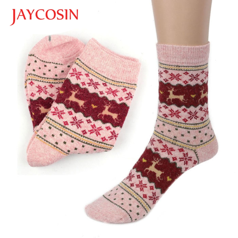 Hot Marketing Christmas Deer Design Casual Knit Wool Socks Warm Winter For  Mens Jul9 Drop Shipping