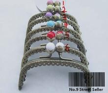 10 sztuk promocja 8 5cm łuku lotosu głowy torebka metalowa rama uchwyt do torby do szycia Craft krawieckie tanie tanio ZYOPP
